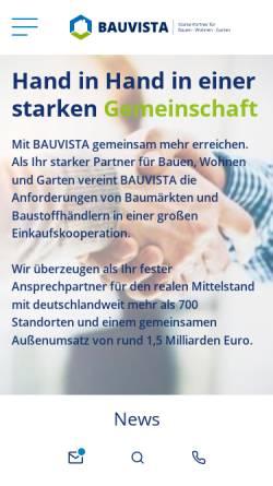 Vorschau der mobilen Webseite www.bauvista.de, EMV-Profi Systemzentrale GmbH & Co. KG