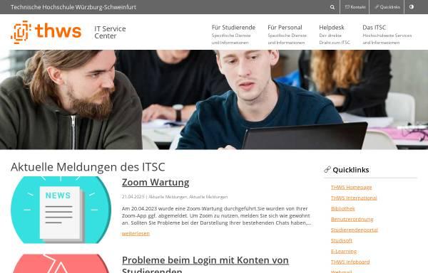 Vorschau von itsc.fhws.de, FH Würzburg-Schweinfurt - IT Service Center