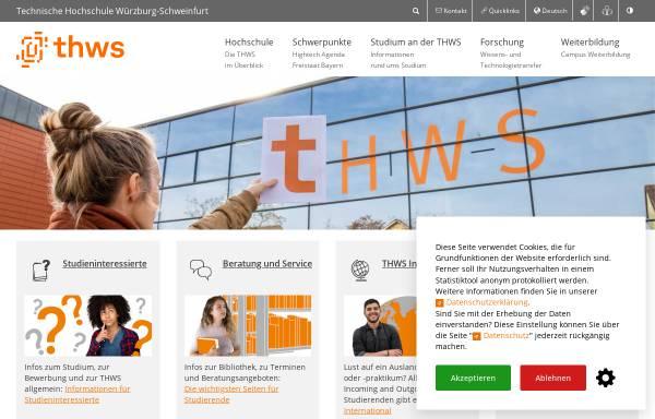Vorschau von www.fhws.de, Hochschule für angewandte Wissenschaften Würzburg-Schweinfurt