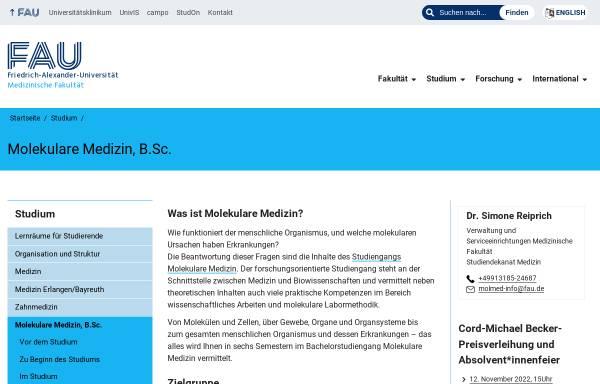 Vorschau von molmed.med.uni-erlangen.de, Molekulare Medizin