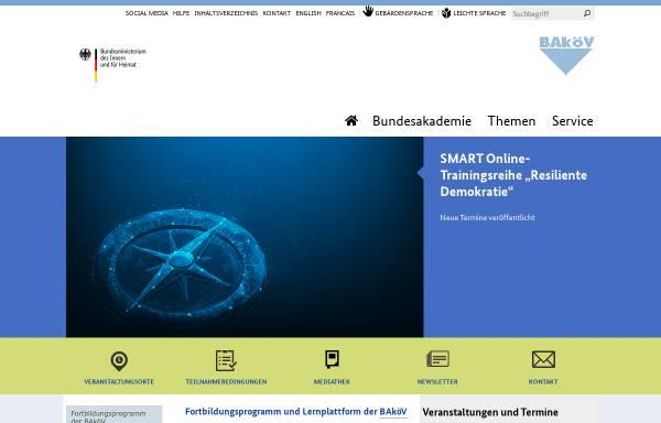 Vorschau von www.bakoev.bund.de, Bundesakademie für öffentliche Verwaltung im BMI (BAköV)