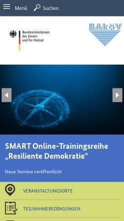 Vorschau der mobilen Webseite www.bakoev.bund.de, Bundesakademie für öffentliche Verwaltung im BMI (BAköV)