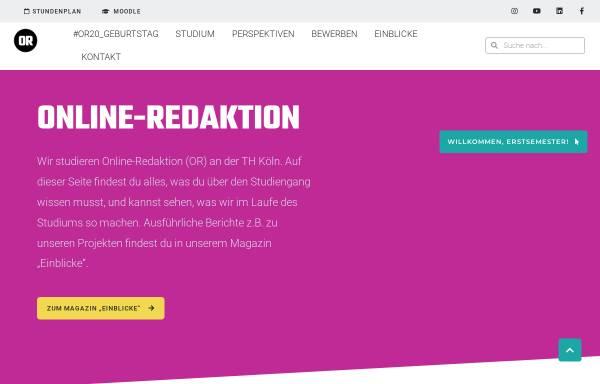 Vorschau von www.online-redakteure.com, FH Köln, Studiengang Online-Redakteur
