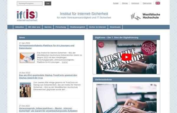 Vorschau von www.internet-sicherheit.de, Institut für Internet-Sicherheit - if(is)