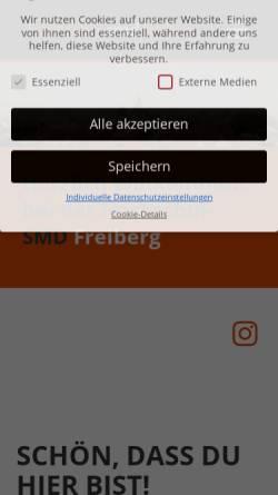 Vorschau der mobilen Webseite www.smd-freiberg.de, Hochschul-SMD Freiberg