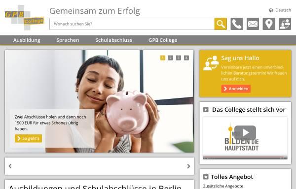 Vorschau von www.gpb-college.de, GPB College gGmbH