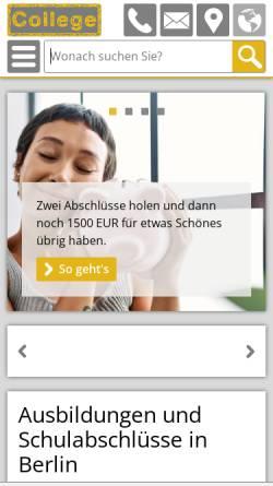 Vorschau der mobilen Webseite www.gpb-college.de, GPB College gGmbH