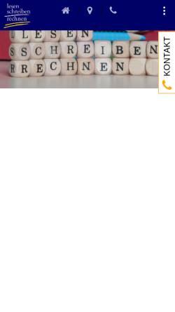 Vorschau der mobilen Webseite schreiben-und-rechnen.de, Lesen, Schreiben und Rechnen