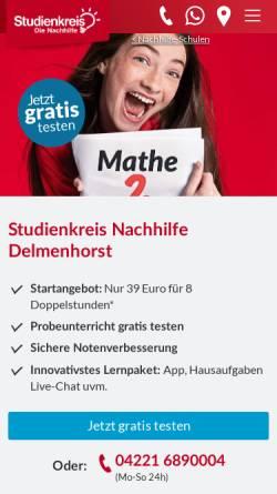 Vorschau der mobilen Webseite www.studienkreis.de, Das Lerncenter