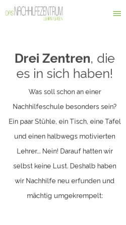 Vorschau der mobilen Webseite nachhilfezentrum.de, Das Nachhilfezentrum