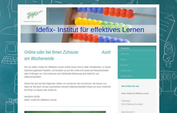 Vorschau von idefix-ol.de, Idefix- Institut