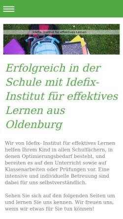 Vorschau der mobilen Webseite idefix-ol.de, Idefix- Institut