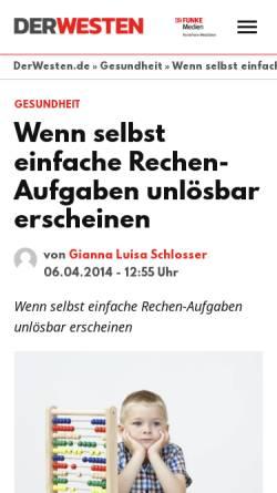 Vorschau der mobilen Webseite www.derwesten.de, Schlosser, Gianna Schlosser