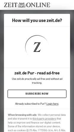 Vorschau der mobilen Webseite www.zeit.de, Brzoska, Maren