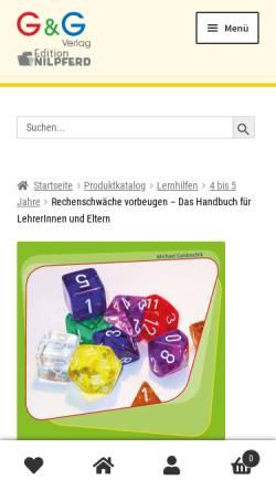 Vorschau der mobilen Webseite www.ggverlag.at, Gaidoschik, Michael