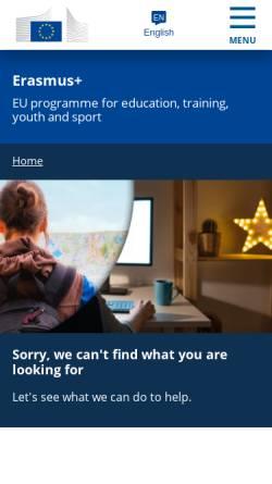 Vorschau der mobilen Webseite ec.europa.eu, Europäische Kommission: EU-Programm für allgemeine und berufliche Bildung, Jugend und Sport