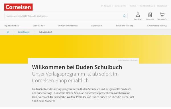 Vorschau von www.duden-schulbuch.de, Cornelsen Schulverlage GmbH