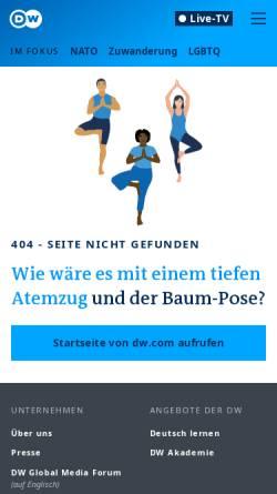 Vorschau der mobilen Webseite www.dw.com, Studieren in Deutschland