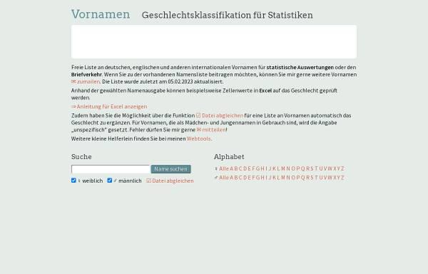 Vorschau von www.albertmartin.de, Vornamen-Geschlecht-Zuordnung