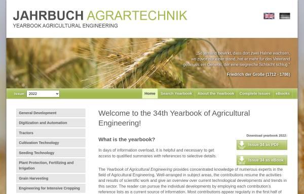 Vorschau von www.jahrbuch-agrartechnik.de, Jahrbuch Agrartechnik