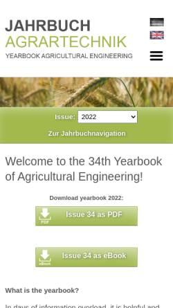 Vorschau der mobilen Webseite www.jahrbuch-agrartechnik.de, Jahrbuch Agrartechnik
