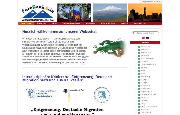 Vorschau von www.eurokaukasia.de, EuroKaukAsia