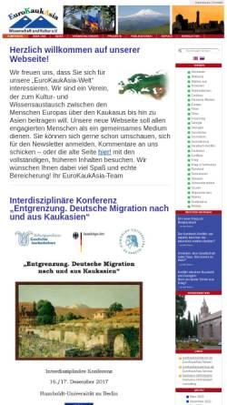 Vorschau der mobilen Webseite www.eurokaukasia.de, EuroKaukAsia
