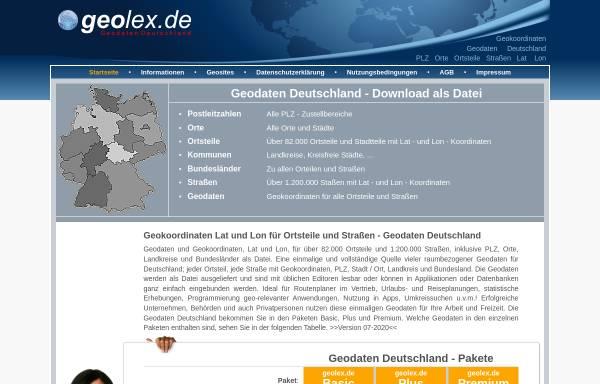 Vorschau von www.geolex.de, Geolex- Geodaten Deutschland