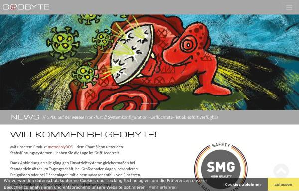 Vorschau von www.geobyte.de, Geobyte Software GmbH
