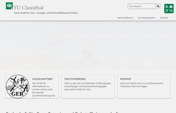 Vorschau von www.fs-ger.tu-clausthal.de, Fachschaft für Geo-, Energie-, und Rohstoffwissenschaften