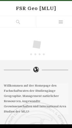 Vorschau der mobilen Webseite fsr.geo.uni-halle.de, Fachschaftsrat Geo der Uni Halle