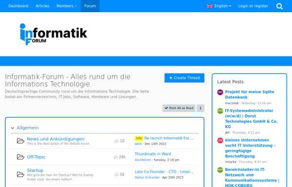 Vorschau von www.informatik-forum.at, Informatik-forum.at
