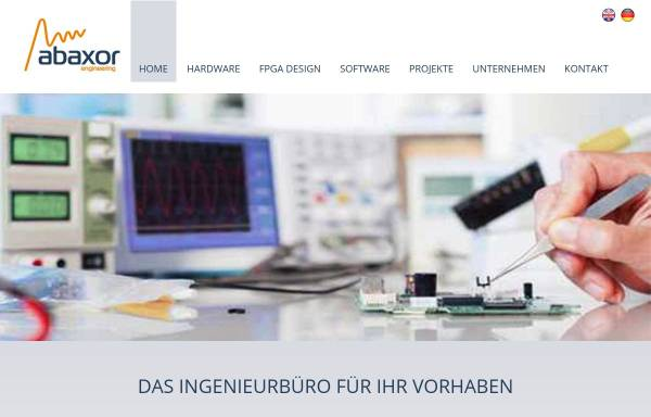 Vorschau von www.abaxor.de, Abaxor engineering GmbH