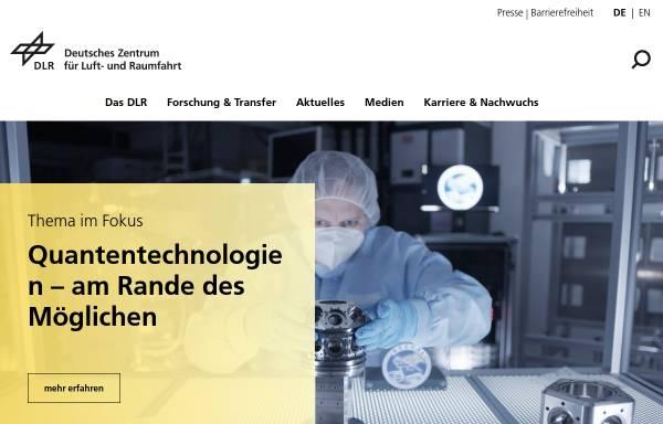 Vorschau von www.dlr.de, DLR Portal