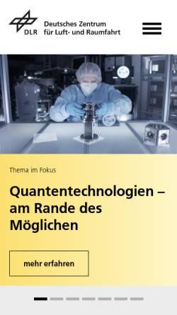 Vorschau der mobilen Webseite www.dlr.de, DLR Portal