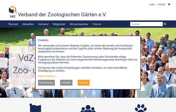 Vorschau von www.zoodirektoren.de, Verband der Zoologischen Gärten (VdZ)