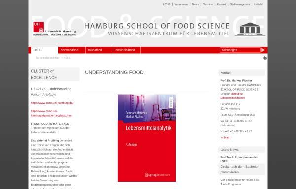 Vorschau von www.hsfs.org, Hamburg School of Food Science an der Universität Hamburg