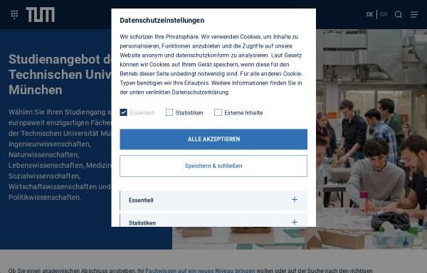 Vorschau von portal.mytum.de, Bachelor Berufliche Bildung, Fachrichtung Ernährungs- und Hauswirtschaftswissenschaft an der TU München