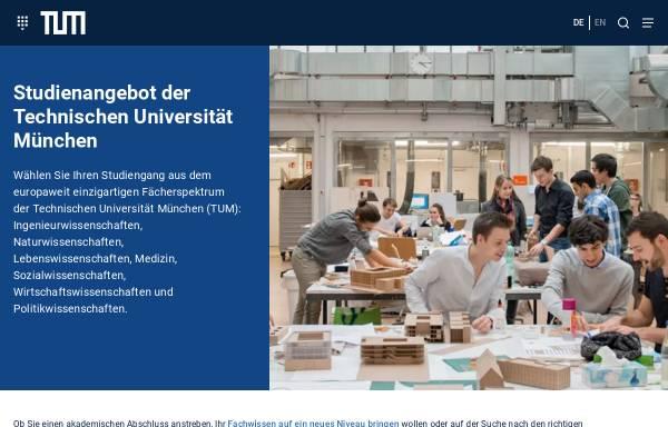 Vorschau von portal.mytum.de, Master Berufliche Bildung, Fachrichtung Ernährungs- und Hauswirtschaftswissenschaft an der TU München