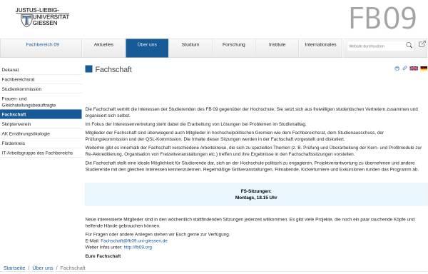 Vorschau von www.uni-giessen.de, Fachschaft Agrarwissenschaft, Ökotrophologie und Umweltmanagement der Justus-Liebig-Universität Gießen