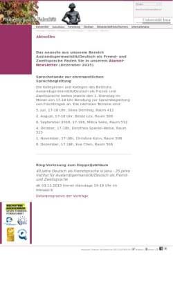 Vorschau der mobilen Webseite cms.uni-jena.de, Fachschaftsrat Ernährungswissenschaften der Friedrich-Schiller-Universität Jena