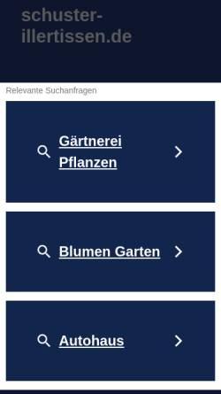 Vorschau der mobilen Webseite www.schuster-illertissen.de, Freiland Orchideen - Ursula Schuster