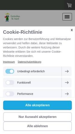 Vorschau der mobilen Webseite www.ihrgartenbau-haertl.de, Gartenbau Härtl