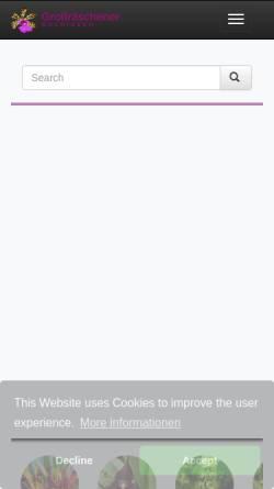 Vorschau der mobilen Webseite www.orchideenwlodarczyk.de, Großräschener Orchideen Wlodarczyk