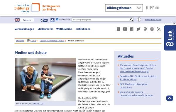 Vorschau von www.bildungsserver.de, Medien und Bildung - Deutscher Bildungsserver
