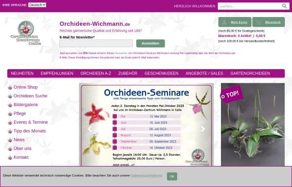 Vorschau von www.orchideen-wichmann.de, Orchideen Zentrum Wichmann GmbH