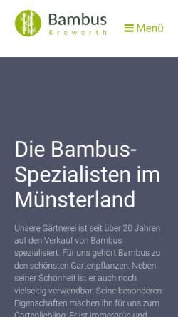 Vorschau der mobilen Webseite www.orchideen-krewerth.de, Rainhard Krewerth