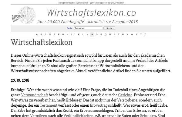 Vorschau von www.wirtschaftslexikon.co, Wirtschaftslexikon.co