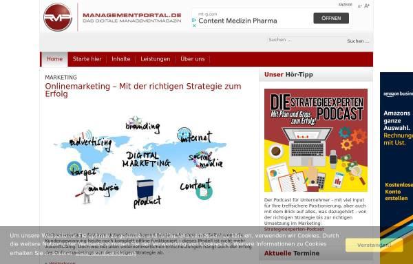 Vorschau von managementportal.de, Managementportal, Recklies Management Project GmbH