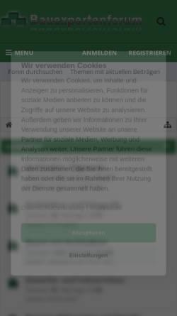 Vorschau der mobilen Webseite www.bauexpertenforum.de, Bauexpertenforum